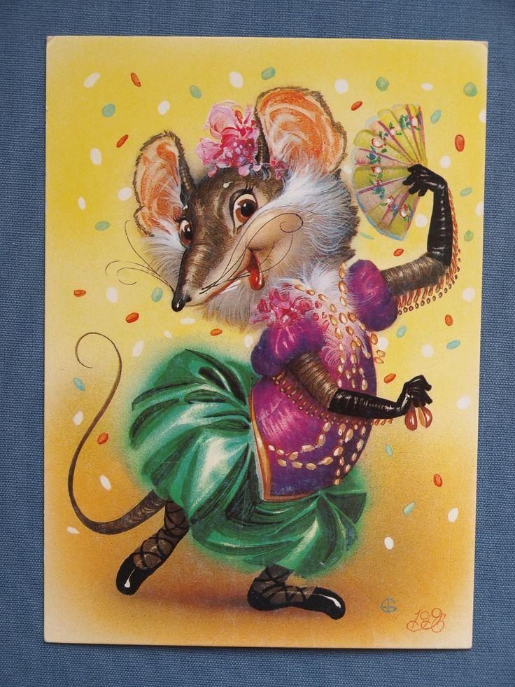 Открытка с крысой