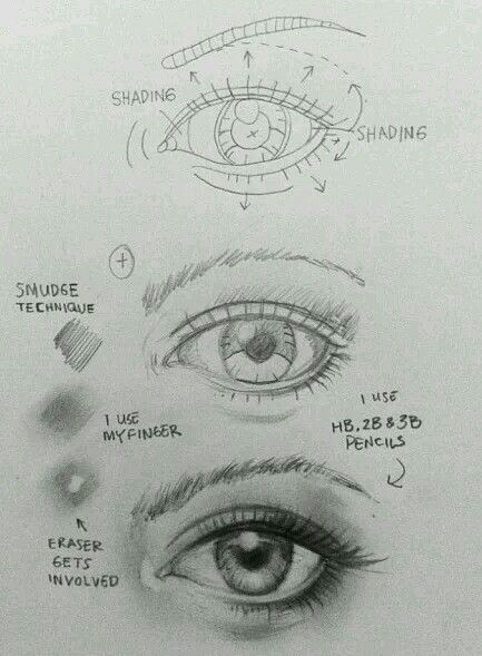 Eye techniques!! How to draw an eye!!
