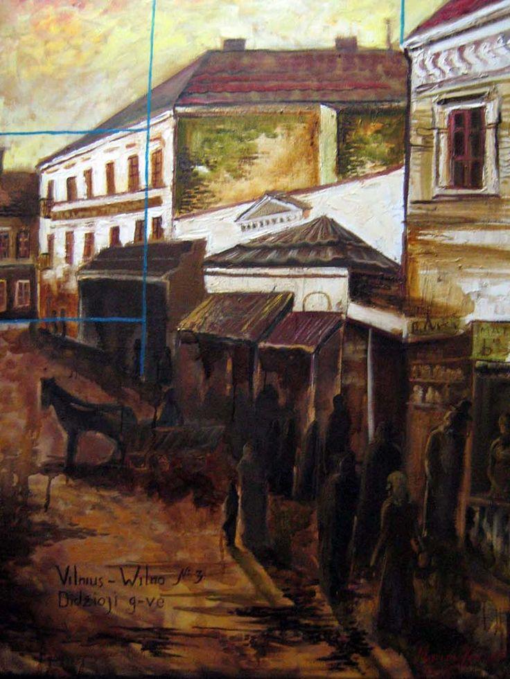 Meno Galerija Internete www.Paveikslai.lt - Griniuk Marija - Vilniaus istorinis centras 2