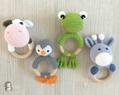Mordedores animalitos a crochet