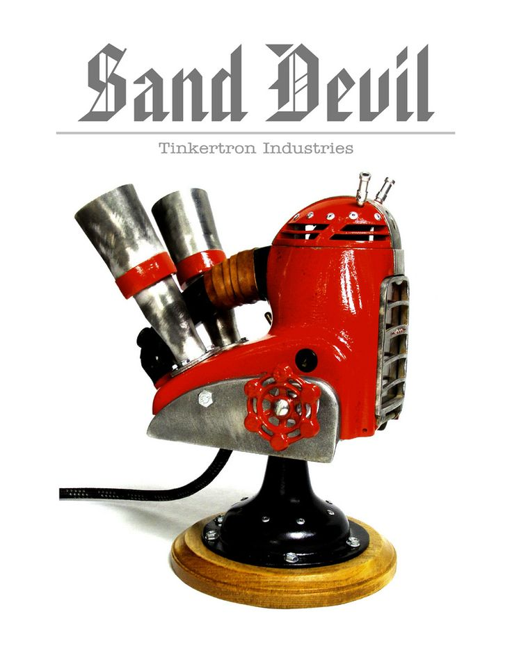 This vintage 1940's electric hand sander has become the fire breathing Diablo of the workshop~ dan jones~ San Diego, Ca USA