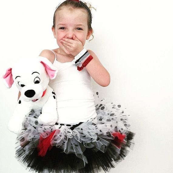Villain Kids Run Tutu | Cruella Tulle Race Skirt | Running  Dressup Or Halloween Costume | Kid ...