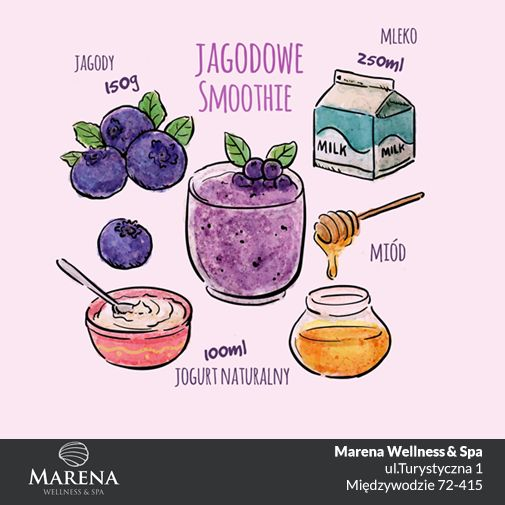 Udanej niedzieli Kochani! Na deser polecamy pyszny jagodowy koktajl :) #Marena #ABCZdrowie #weekend #nadmorzem