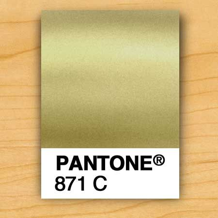 GOLD INK - PMS 871 | The prettiest Pantone gold which looks beautiful with PINK