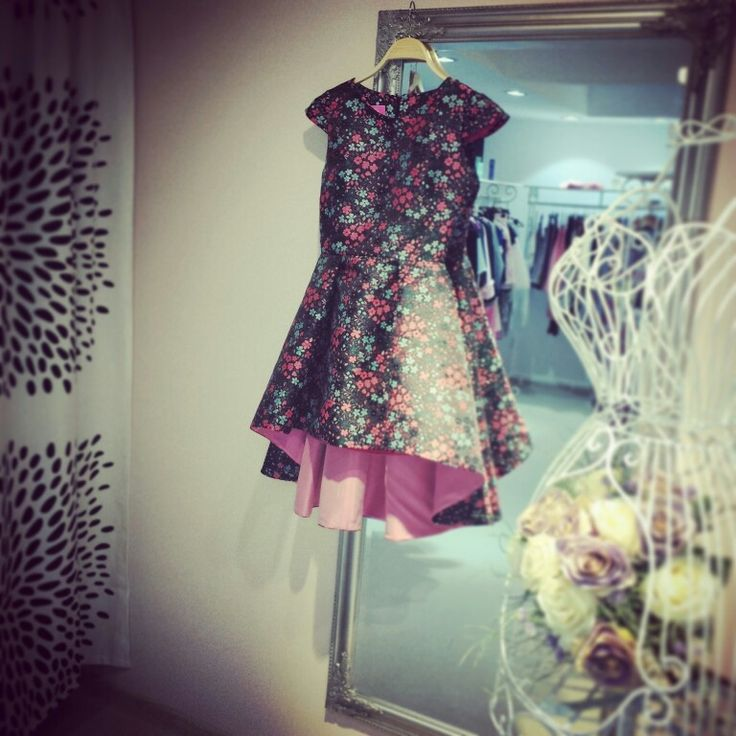 Flower tafta dress