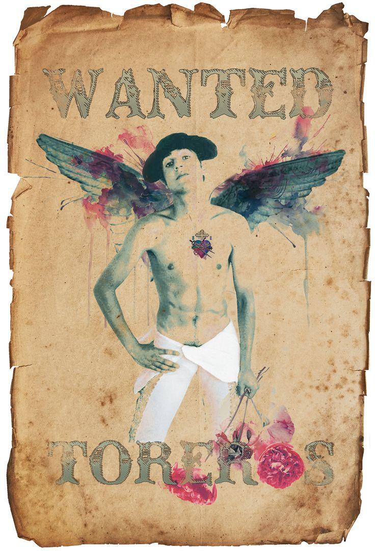 wanted-poster-retro-affiche-corrida-toro