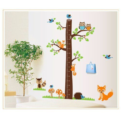 MZY LLC (TM) Growth Chart Height Chart Funny Forest Wall Vinly Decal Decor Stickers For Nursery Children's Bedroom Kid's Room -- Additional details at the pin image, click it  : DIY : Do It Yourself Today