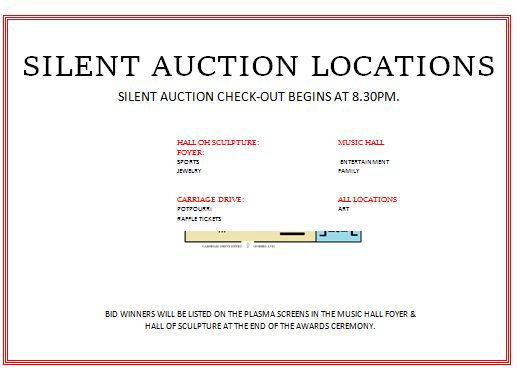 Silent Auction Location Display Map 2