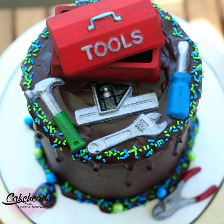 How to make a quick and easy Tool Box Themed Cake! ~ McGreevy Cakes