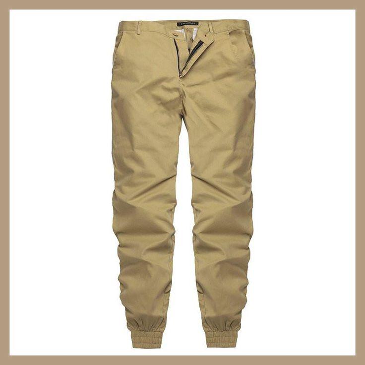 INCERUN 2017 Plain Pants Mens 100% Cotton Casual chinos Trousers Joggers  Sweatpants Slim Fit Man