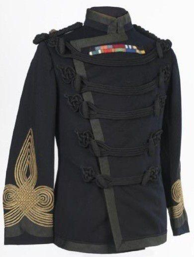 Veste Noir Égyptienne Ottomane du Khédive, porté par les officiers de l'armée d'Egypte, avant la première guerre mondial.