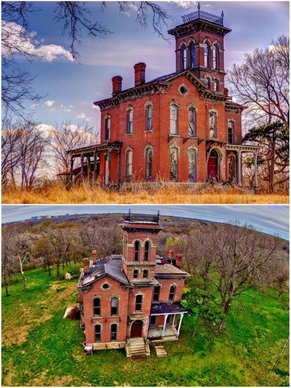 This abandoned mansion witnessed numerous family deaths & neighbors have reported violent hauntings. Better bring the holy water..