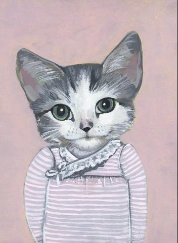 {sweet kitty print} by heather Mattoon