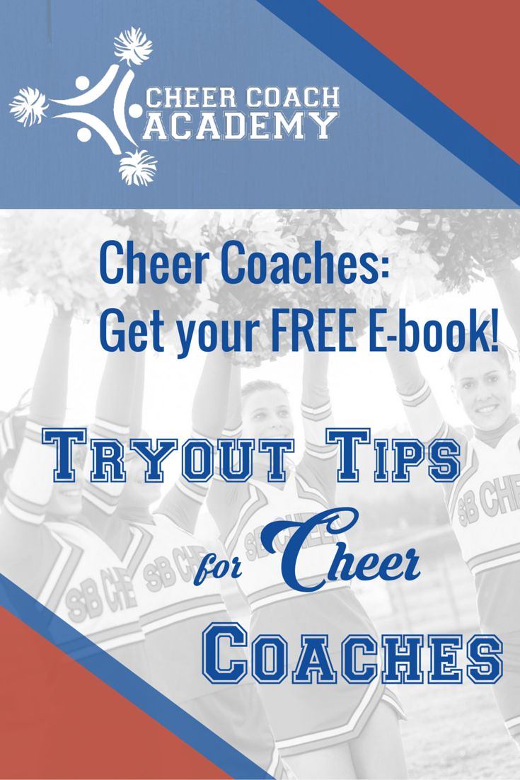 Tryouts are just around the corner!  Download your FREE e-book Tryout Tips for Cheer Coaches  #cheercoaches #cheertryouts https://cheercoachacademy.mykajabi.com/p/tryout-tips-for-cheer-coaches