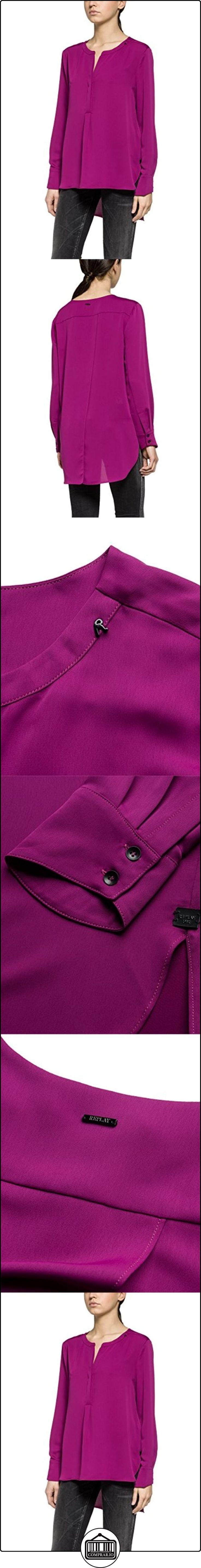 Replay W2858 .000.82536, Blusa para Mujer, Violett (Purple 855), 40  ✿ Blusas y camisas ✿