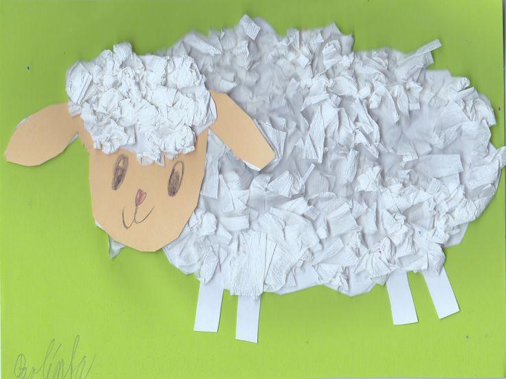 Ovečka z krepového papíru
