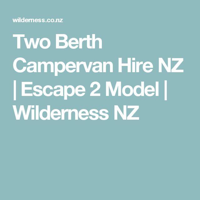 Two Berth Campervan Hire NZ | Escape 2 Model | Wilderness NZ