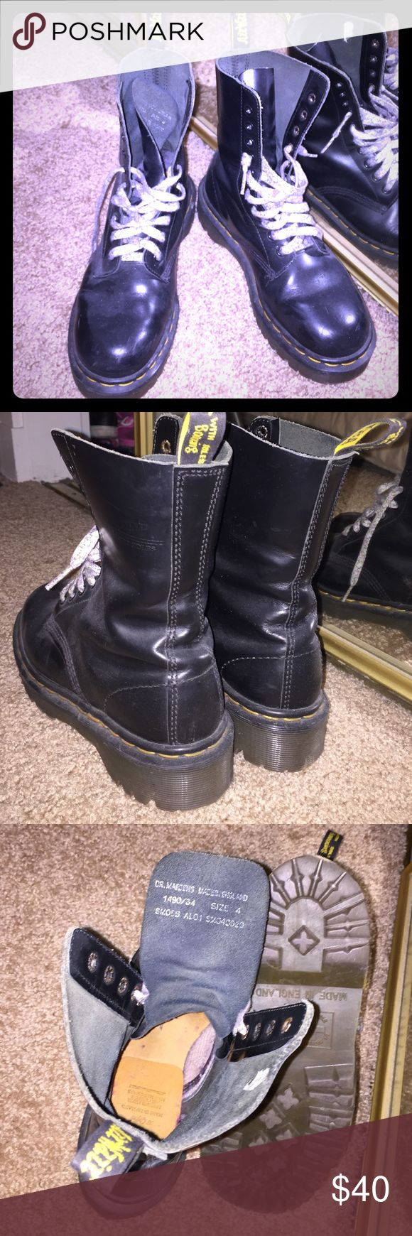 Authentic 90s Dr Martens military black boots Authentic 90s Dr Martens military black boots     Original shoe lace NOT included. Marked size 4. Fits women's US size 7. Made in England. dr martens Shoes Combat & Moto Boots