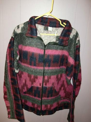 New Southwestern Native American Aztec Fleece Jacket Mens Womens ...