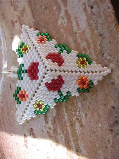 Patterns for a number of Peyote triangles.  Schema ~ Seed Bead Tutorials