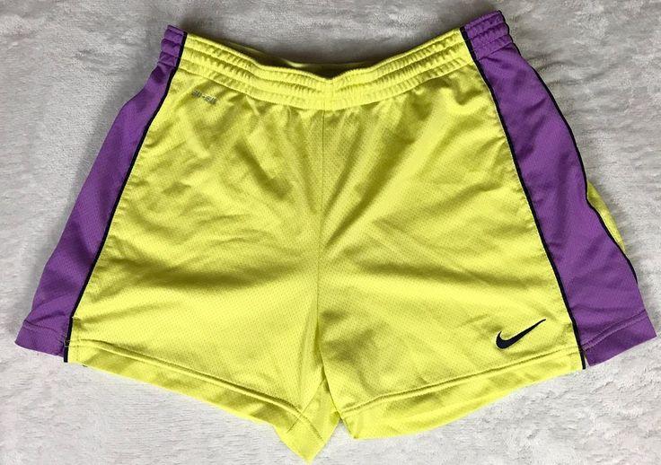 Nike Dri-Fit Women's Size Small Yellow Purple Athletic Shorts Running Basketball    eBay