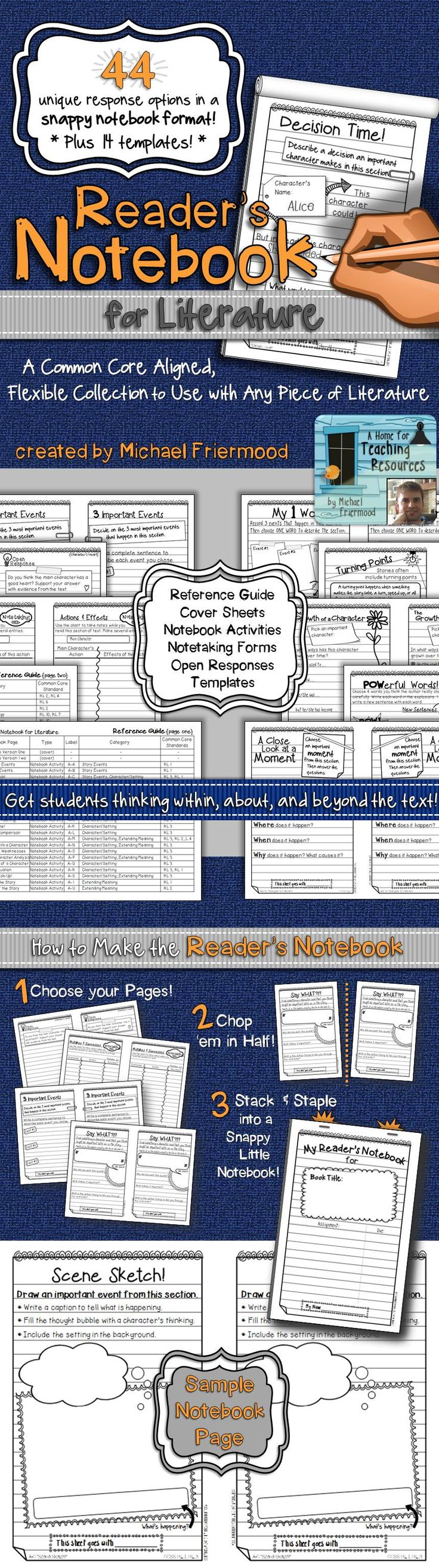 Reader's Notebook for Literature {A BIG Collection of Flexible Response Pages!} ($) NOTE**I'll be re-posting this resource in the next few days with TONS of differentiated options... appropriate for grades 1-7**