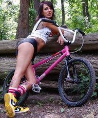 Damn. That's a sexy ass gir... I mean uhm bike d: