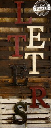 Large metal letters by Real Deals on Home Decor. Perfect for tabletops or your walls!