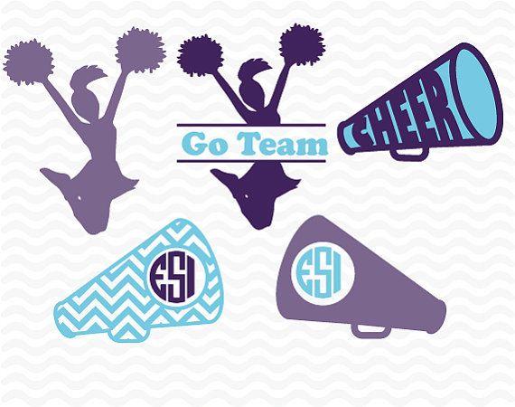 Cheer Monogram Designs Cheerleading SVG DXF by ESIdesignsdigital