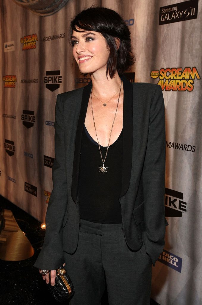 Lena Headey - pant suit
