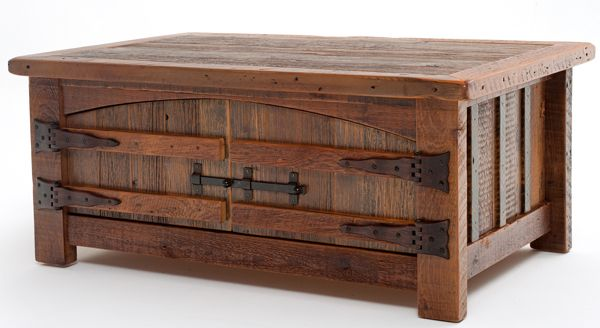 WoodLand Creek Furniture, Barn Wood Coffee Table - Heritage Collection - Two Doors