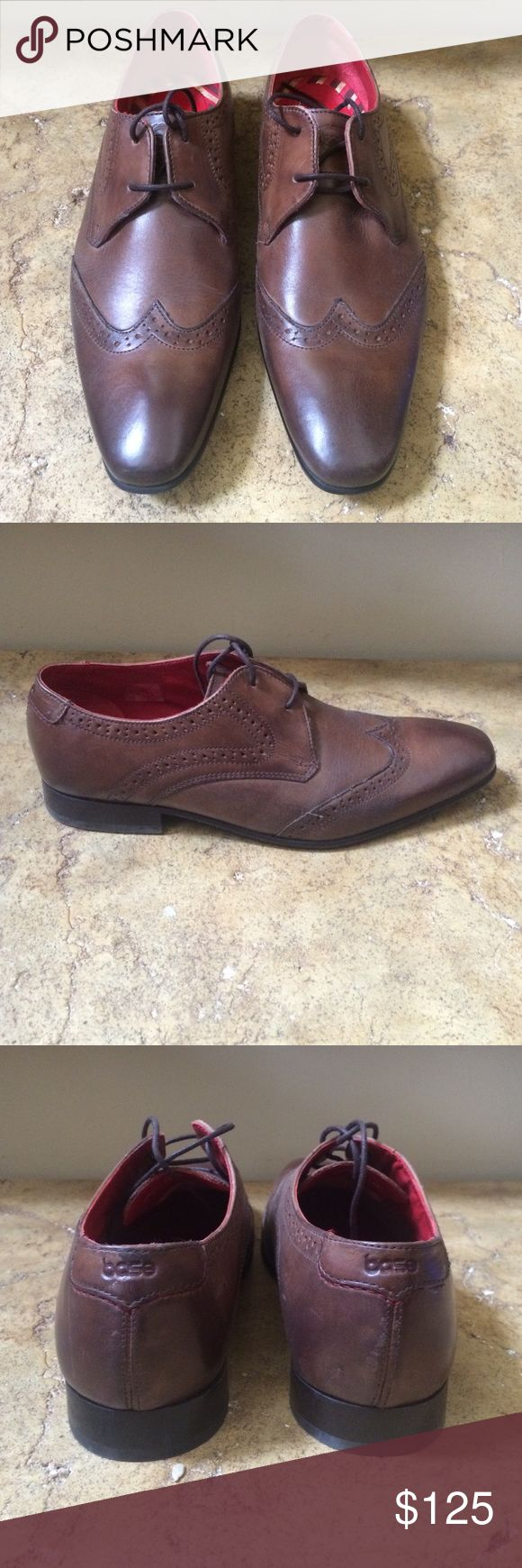 Base London Brown Leather X Men's Shoes 8, 13 New men's shoes Base london Shoes Oxfords & Derbys
