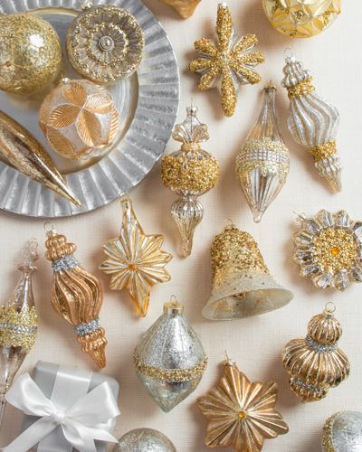 17 best images about silver gold theme on pinterest for Silver and gold christmas tree theme