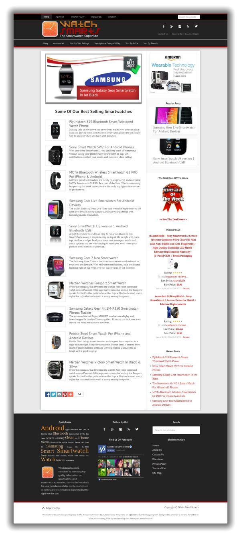 WatchSmarts.com, SmartWatch Niche Website For Sale
