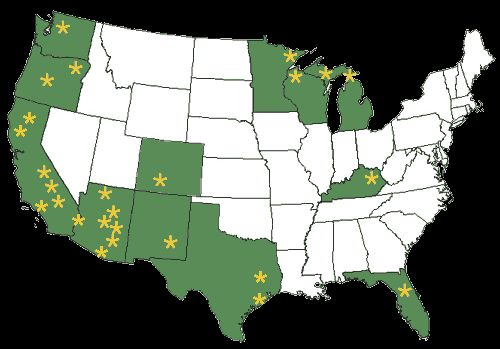 Opportunities for Workamping (or Work Camping) -- over 175 sites in 12 states