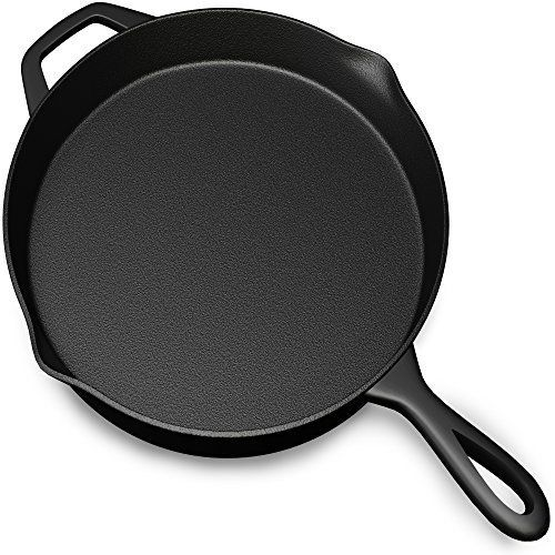 Pre Seasoned Cast Iron Skillet Pan  12 Inch - http://freebiefresh.com/pre-seasoned-cast-iron-skillet-pan-review/