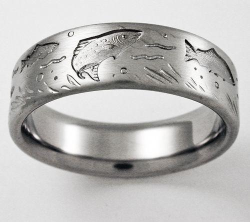mens fly fishing wedding bands mini bridal
