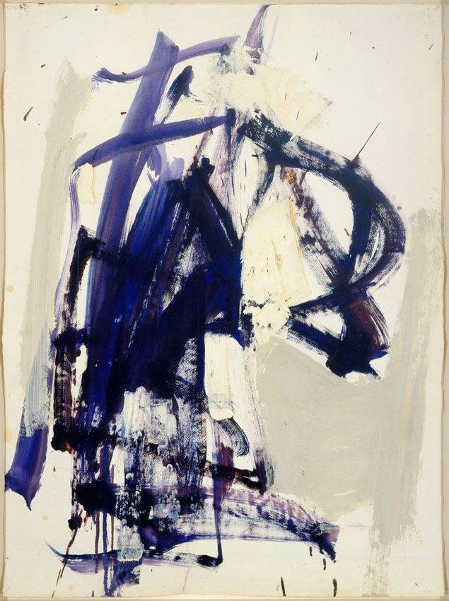 Joan Mitchell - Untitled, Oil on Paper, 1958