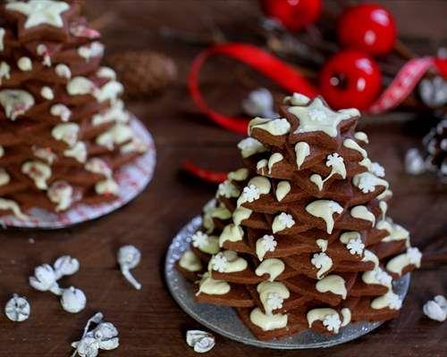 Arbol de navidad con galletas