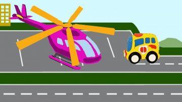 """Мультики про машинки  Автобус и вертолет - транспорт. Развивающие мультики для детей http://video-kid.com/19439-multiki-pro-mashinki-avtobus-i-vertolet-transport-razvivayuschie-multiki-dlja-detei.html  Автобус и вертолет (транспорт) - это новый развивающий мультик для детей от года из серии """"мультики про машинки"""". Так-как наша красная машинка сломалась, мы поедем на автобусе в аэропорт, чтобы полетать на вертолете. Малыши услышат звуки вертолета и выучат новый транспорт.    Мультики про…"""