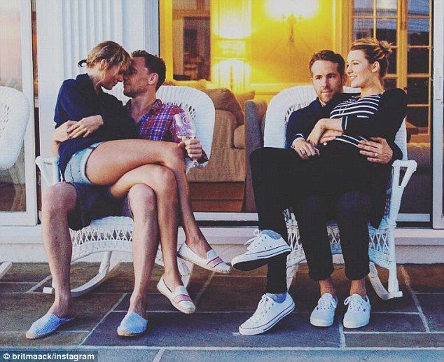 Couples' retreat: Blake and husband Ryan Reynolds spent the Fourth Of July weekend with Ta...