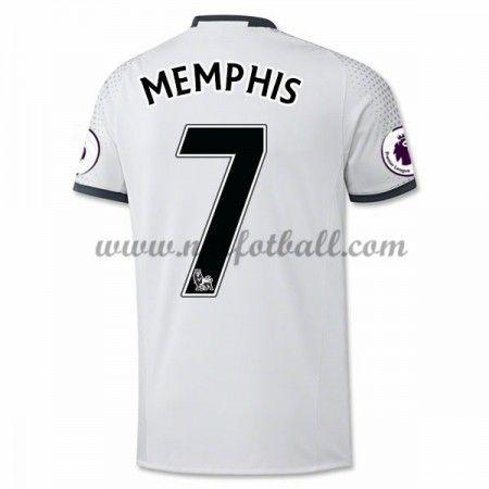 Billige Fotballdrakter Manchester United 2016-17 Memphis 7 Tredje Draktsett Kortermet