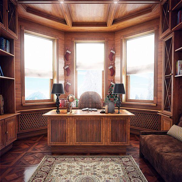 Элегантный домашний офис http://www.prohandmade.ru/mebel-i-interier/elegantnyj-domashnij-ofis/  #домашнийофис #классическийофис #интерьер #дизайнинтерьера