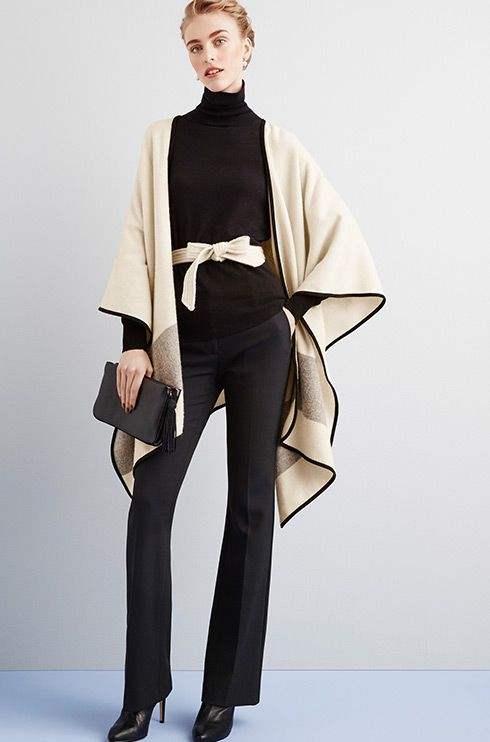 Ann Taylor's The Belted Cape — elevate your fall wardrobe. #AT3Ways