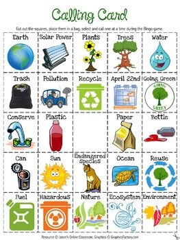 Earth Day Bingo - FREE!