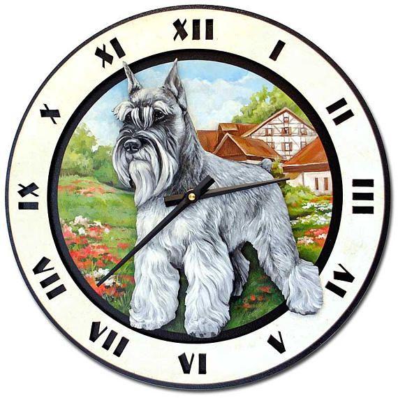 Schnauzer Wall Art Schnauzer Wall Decor Schnauzer Gifts Dog Clock Schnauzer Painting Schnauzer Ornament Schnauzer Wood Schnauzer Gifts Schnauzer Wall Art
