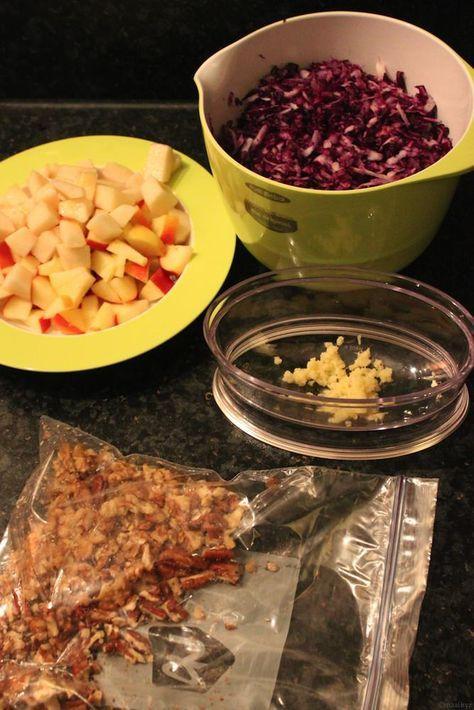 Roergebakken rode kool met quinoa