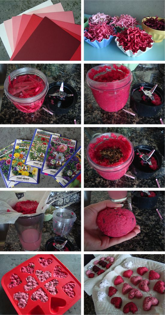 Sew the seeds and watch the love grow (wedding favour idea) -->> DIY Seed Bombs (colorful variety)