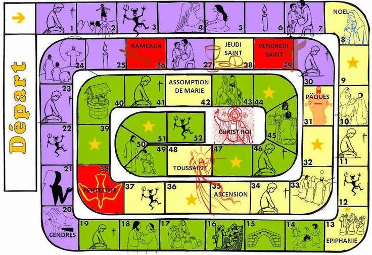 Les règles du jeu de l'oie se trouvent ici : http://laviedesparoisses.over-blog.com/2015/11/calendriers-liturgiques-liturgische-kalender.html
