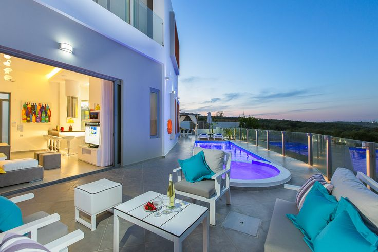#Villa #Chara is a newly built #luxurious #villa with #modern #design and a unique shaped  #pool, located near #Rethymno, #Crete. Enjoy the complete #privacy, #comfortable spaces, #outdoor dining area and all contemporary amenities in this amazing #villa!